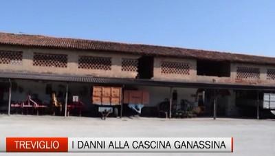 Treviglio, i danni del maltempo a Cascina Ganassina