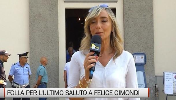Folla per la camera ardente di Felice Gimondi