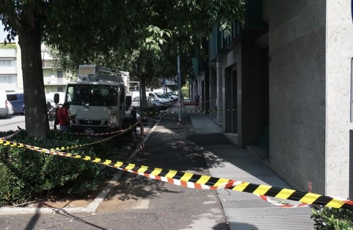 Il danni del maltempo in via Pinamonte da Brembate