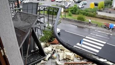 I danni del temporale a Torre Boldone