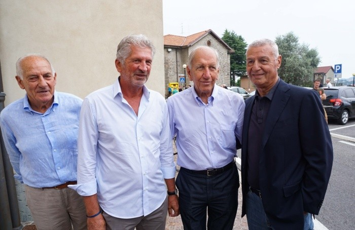 Da sinistra: Cesare Galimberti, Parsani, Adorni e Stanga
