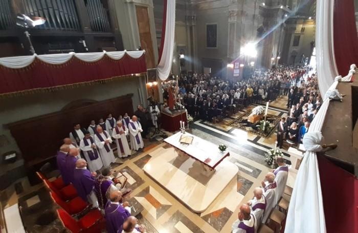 La funzione religiosa nella chiesa di Paladina
