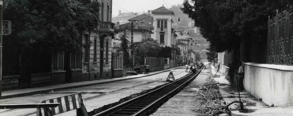 Quando il tram passava in via Statuto Ricordi dalla Bergamo scomparsa