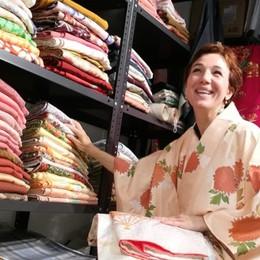 «Scomporre e ricomporre» Veronica riparte dal kimono