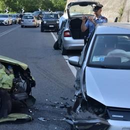 Incidente a Villa d'Almè, sei feriti - Foto Chilometri di coda verso la Val Brembana
