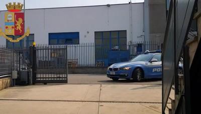 L'operazione della polizia a Orio al Serio