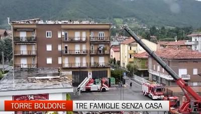 Torre Boldone, tre famiglie sfollate per il maltempo