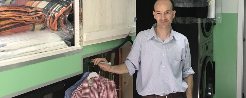 Apre lavanderia in Città Alta Mancava da dieci anni