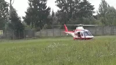 Elicottero dei vigili del fuoco a Torre de' Roveri, ricerca dispersa