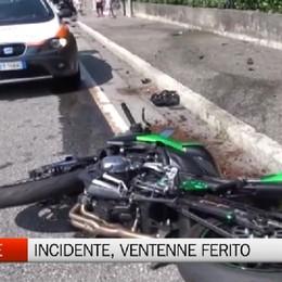 Onore, incidente: ferito ventenne in moto