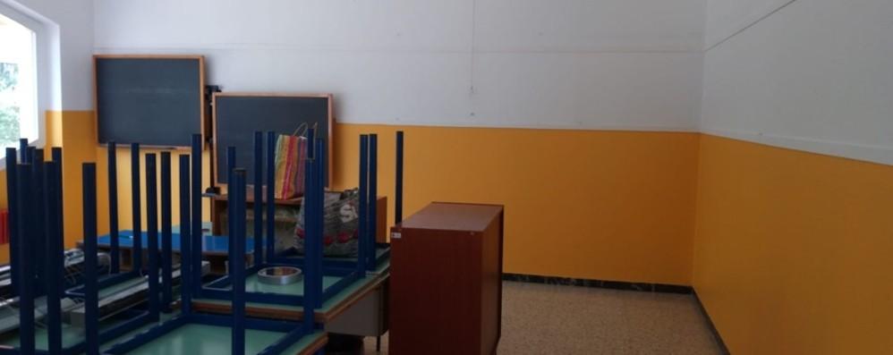 Scuola da ridipingere, mancano i soldi Tagliuno, genitori-imbianchini all'opera