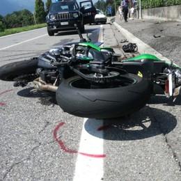 Valle Seriana, auto contro moto - Foto  Un ferito e code tra Onore e Castione