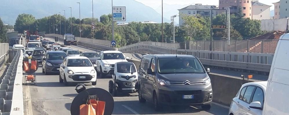 Boccaleone, riaperte tutte le corsie Il viadotto ritorna a pieno regime