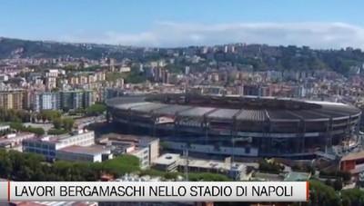 Napoli, lavori bergamaschi agli spogliatoi del San Paolo