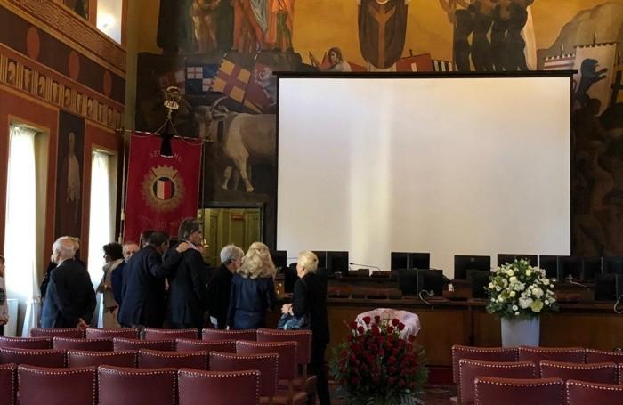 L'omaggio a Bruni a Palazzo Frizzoni