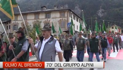 Alpini in festa a OLmo al Brembo per il 70° del Gruppo