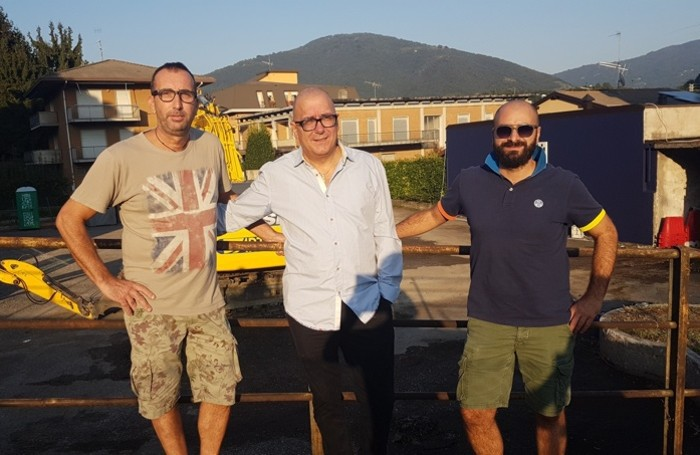 Da sinistra Dj Belli,Dj Presti e Riccardo Castiglione