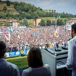 Pontida, tanto popolo Poca politica