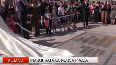 Albano Sant'Alessandro, l'inaugurazione della nuova piazza