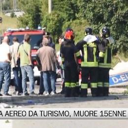 Bergamo, precipita aereo da turismo: muore 15enne