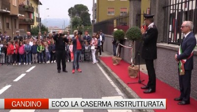 Gandino: riconsegnata la caserma dei Carabinieri ristrutturata