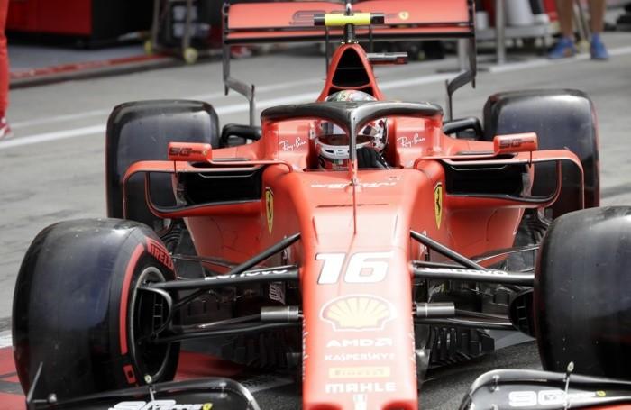 Ferrari driver Charles Leclerc of Monaco