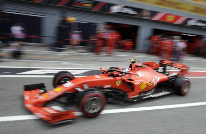 Ferrari driver Charles Leclerc of Monaco enters