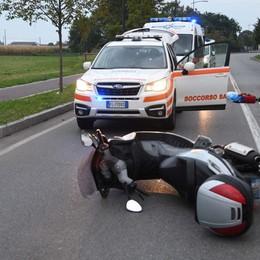 Treviglio, con lo scooter contro un'auto Grave motociclista sessantenne