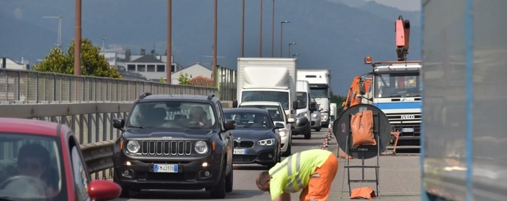 Viadotto di Boccaleone, riapre giovedì Stop ai rallentamenti per il cantiere