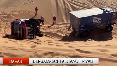 Dakar, equipaggio bergamasco soccorre i rivali