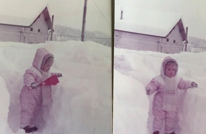 La figlia Barbara nel 1985 a Ponteranica