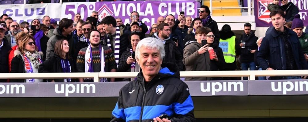 «Coro becero contro Gasperini» Multa di 5 mila euro alla Fiorentina