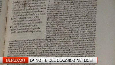 Notte del classico nei licei di Bergamo tra Dante e concerti studenteschi