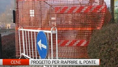 Cene, il progetto per riaprire il ponte della ciclabile