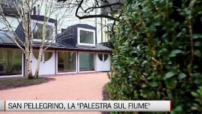 San Pellegrino Terme, la nuova palestra sul fiume