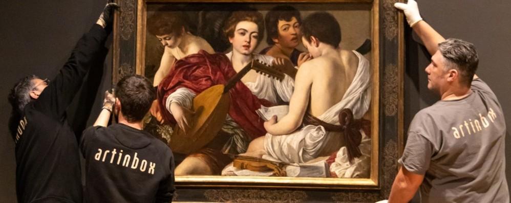 Da New York all'Accademia Carrara In mostra i «Musici» di Caravaggio