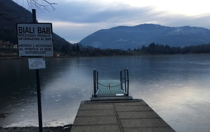 Lago d'Endine, poco ghiaccio Il turismo va a marcia ridotta