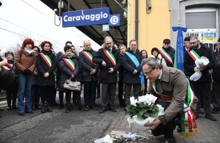 Il sindaco Bolandrini in stazione