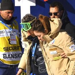 Sci, Sofia Goggia scivola e cade La campionessa salterà la prova di sabato