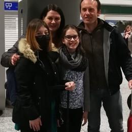 Cina, Martina Milesi è rientrata a casa La studentessa  a San Giovanni Bianco