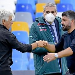 Gasperini: «Il match contro il Napoli campanello d'allarme per la Champions»