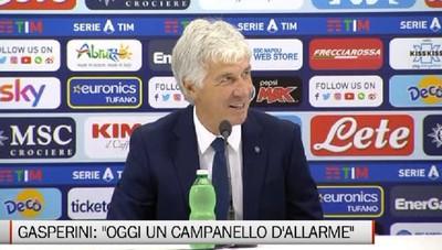 Napoli-Atalanta 4-1. Gasperini: «Un campanello d'allarme»