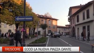 Trescore: ecco la nuova piazza Dante