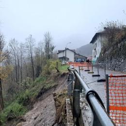 Frana a Vilminore di Scalve - Foto Due anni fa cedimento sulla stessa strada