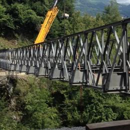 Taleggio, nuovo ponte al posto del bailey Regione: pronto per il dicembre 2021