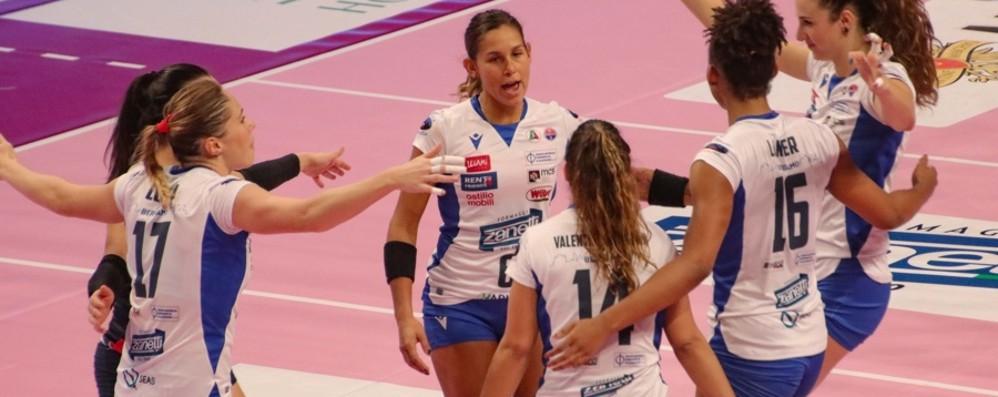 Volley, la Zanetti vince  la sfida con il Perugia: 3-1