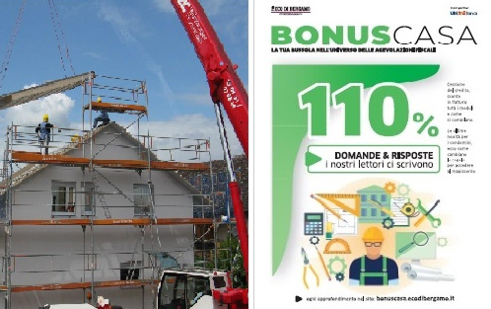 BonusCasa, oggi in regalo con L'Eco un inserto con tutte le novità sul bonus 110%