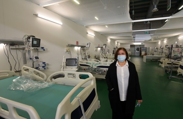 Maria Beatrice Stasi, direttrice generale dell'Asst Papa Giovanni XXIII, all'ospedale della Fiera