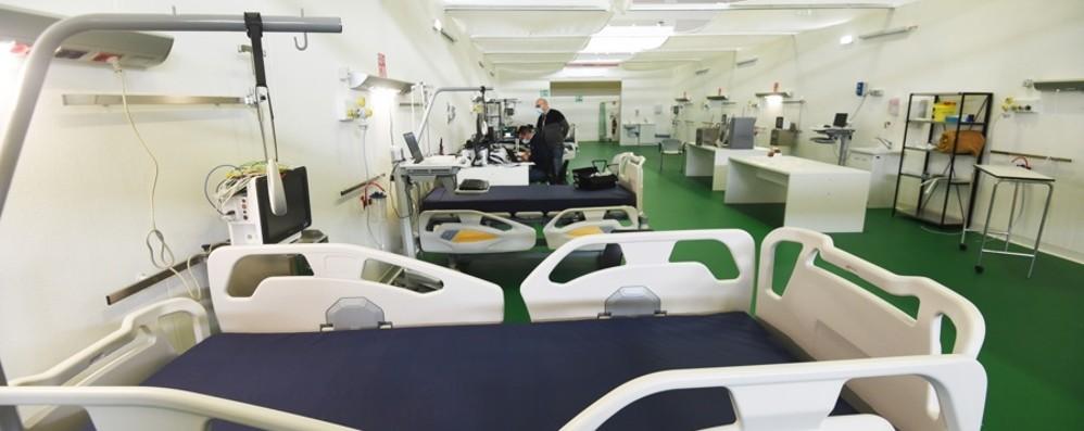 In Fiera 48 letti di terapia intensiva Da lunedì operativi i primi quattro posti