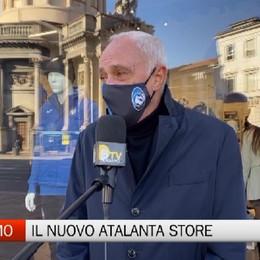 Bergamo, il presidente Percassi all'inaugurazione del nuovo Atalanta Store